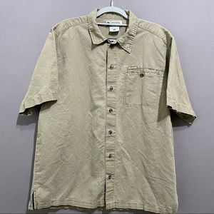Columbia Mens olive green shirt size M